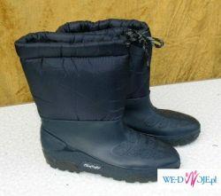buty śniegowce niebieskie