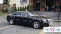 Chrysler 300C wynajem do ślubu, na wesele. Skierniewice
