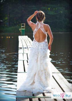 Ciekawa Suknia z wycięciem na plecach