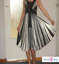 Cieniowania super sukienka satyna
