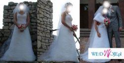 CLASSA C418- najpiękniejsza suknia ślubna z koronką, biel 38/40 Dąbrowa Górnicza
