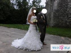 Cosmobella 7490, piękna suknia ślubna rozmiar 38
