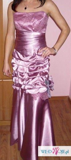 CUDNA,EXLUZYWNA suknia wieczorowa 36-38