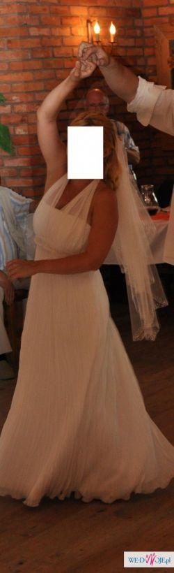 Cudna suknia ślubna ecru w stylu empire !