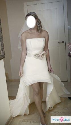 Cudna suknia ślubna- krótka z przodu- Baccara Angel