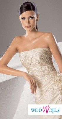 Cudna suknia WHITE ONE 168- kolor: jasne ecru - Tanio!!!