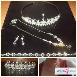 Cudny zestaw biżuterii ślubnej