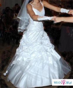 CUDO suknia ślubna 36 - 38 Śnieżnobiała, bardzo tanio