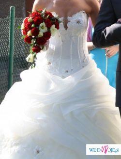 Cudowna i okazała suknia ślubna z Wrocławskiego salonu Agora. Okazja!!