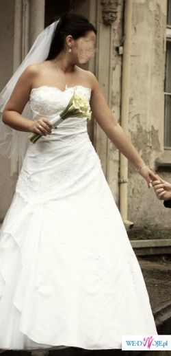 cudowna suknia SINCERITY BRIDAL  model 3315 z  2008r. + dodatki