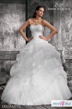 Cudowna suknia ślubna Diamante 2011 + długi biały welon