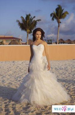 Cudowna suknia ślubna w kolorze ivory - kolekcja Demetrios 2008