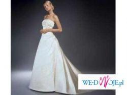Cudowna suknia z salonu Cymbeline+ piękne koronkowe bolerko