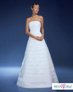 Cudownie ascetyczna suknia ślubna