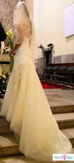 Cuuudowna suknia ślubna CYMBELINE, roz.38+GRATISY