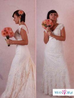 CYMBELINE BEAUTY suknia ślubna ecru koronkowa rozm.36/38