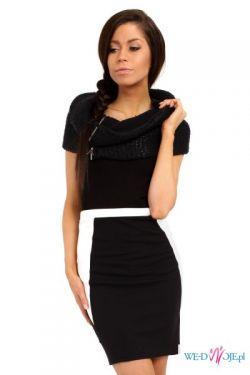 Czarno-biała panelowa spódniczka S-L