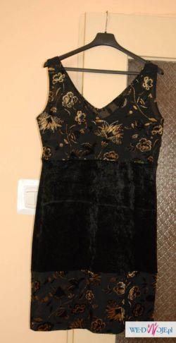 czarno złota sukienka koktajlowa