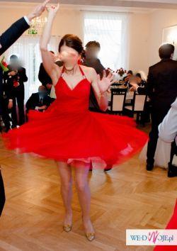 czerwone sukienki dla druhen DAGNEZ