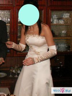DAISY niepowtarzalna  suknia w kolorze champagne