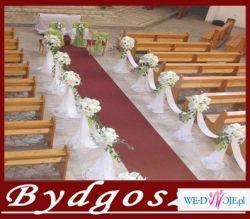 Dekoracja ślubna Kościoła Białe Gołębie Dywan Bydgoszcz I