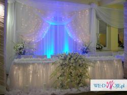 Dekoracje ślubne, sal weselnych -MAJKA- Wadowice, Andrychów, Kęty i okolice