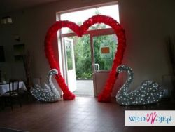 dekoracje weselne świetlne