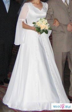 Delikatna, biała suknia, roz.38