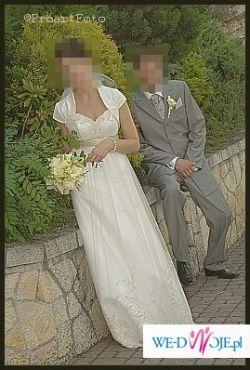Delikatna i dziewczęca suknia z salonu Nabla w Krakowie