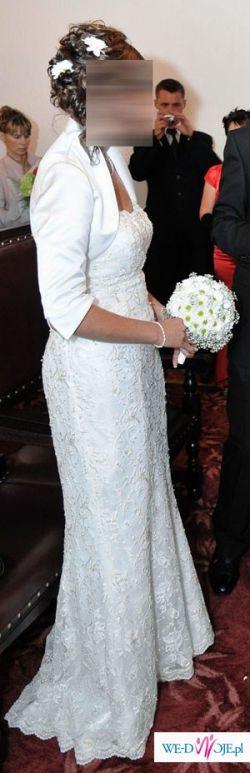 Delikatna i romantyczna suknia ślubna