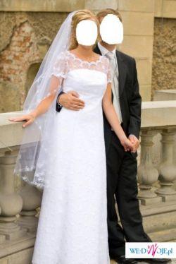 Delikatna i subtelna suknia ślubna