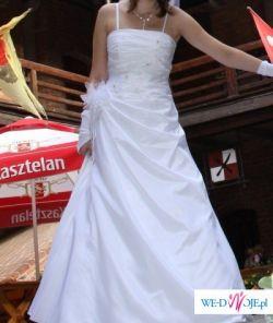 delikatna sukienka ślubna