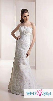 Delikatna sukienka W1 White One 3062