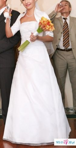 delikatna suknia rozm.36 na 170 cm wzrostu + 6 cm obcas