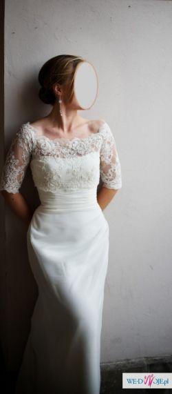Delikatna,zmysłowa, piękna Suknia Ślubna