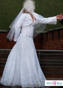Delikatna, zwiewna suknia  z muślinu!