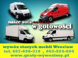 Demontaż/wyniesienie/wywóz starych mebli Wrocław , tel 607-698-310