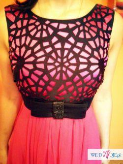Dluga suknia roz