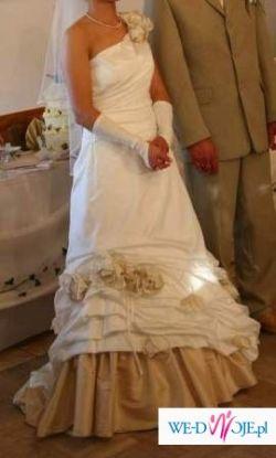 Do sprzedania NIETUZINKOWA suknia ślubna