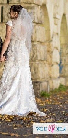 Do sprzedania wyjątkowa koronkowa suknia ślubna 36-38