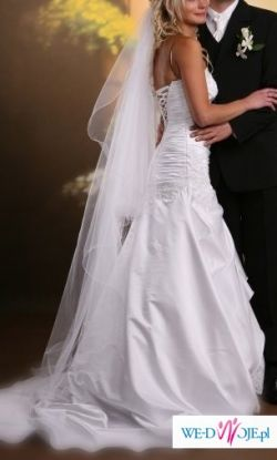 dopasowana suknia ślubna
