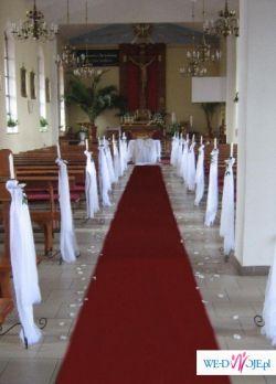 Dywan do ślubu - biały i czerwony