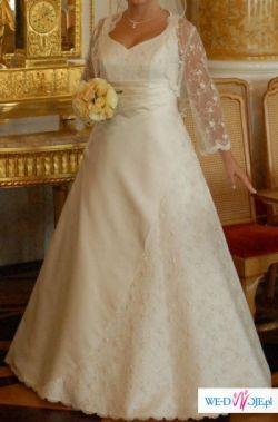 Dziewczęca i ORYGINALNA Suknia Ślubna