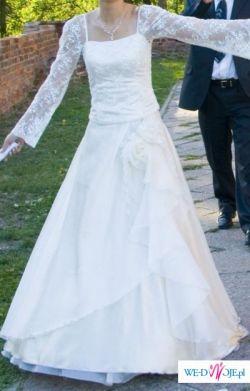 ecri suknia ślubna 36/38 , właskie koronki