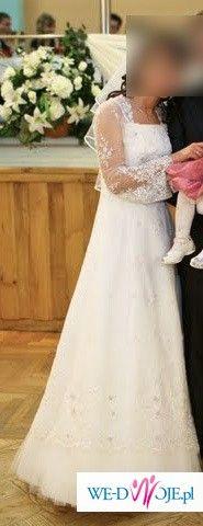 Efektowna i elegancka suknia ślubna