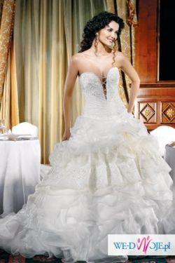 Efektowna i oryginalna suknia slubna wloskiej firmy Eddy K