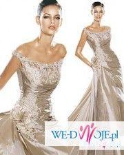 Ekskluzywna suknia ślubna Joana z hiszpańskiej kolekcji Pronovias