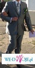 Ekskluzywny garnitur ślubny+kamizelka ślubna+ fular+ butonierka