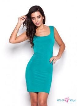 Elegancka i kobieca obcisła sukienka bez rękawów - różne kolory