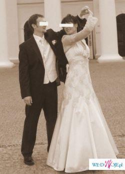 Elegancka i niezwykle efektowna suknia ślubna firmy Papillio na wysoką